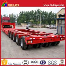 100-150 Tons Multi Lines-Axles Lowbed Heavy Duty Trailer